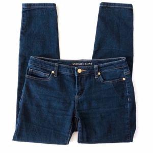 Michael Kors Jeans - Michael Kors Skinny Ankle Jeans Dark Wash A019